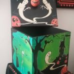 Mean Green Halloween Wood Box