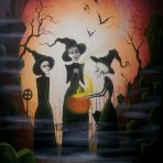 Three Witches Original Painting 24″ x 36″