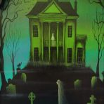 Haunted Mansion Wood Painting