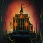The Nightscape Original Haunted House Painting