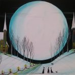 Holiday Moon Witchy Wonderland 11 x 14″ Painting