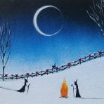 First Snow Witchy Wonderland 5 x 7 Painting