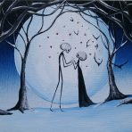Winter Love 8 x 10 Acrylic Stretch Canvas Painting