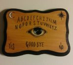 The Eye Ouija Ornate 5 x 7 Wood Painting