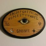 The Eye Ouija Oval 5 x 7 Wood Painting