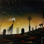Graveyard Shift Collection Mistress Night 8 x 10 Painting