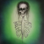 Living Dead 16 x 20 Large Stretched Canvas Painting