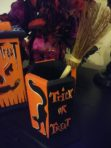 Trick R Treat Pen Holder with Witch Broom Pen