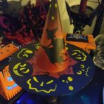 Witch Hat with Wood Stand