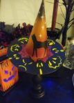 Black Cat Witch hat with stand